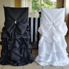 Wedding Chair Covers For Bride And Groom Poundex Dining Chairs Black White Cover Set Whit Etsy Image 0