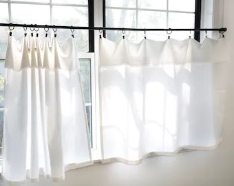bathroom curtains for small window etsy
