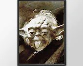 Star Wars Art - Alternative Universe Yoda Einstien  - PRINTED Boys and girls Geek man woman cave nerds bedroom office