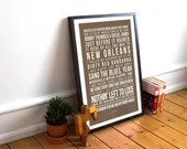 Me and Bobby Mcgee - Song Lyrics Typography Janis Joplin Tribute - PRINTED music Art bedroom office lounge home decor