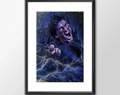 Harry Potter in Action - PRINTED -  for the Big Boys girls Geek man cave nerds bedroom office