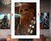 Chewbacca  - Star wars - PRINTED Boys girls Geek kids man cave nerds bedroom office