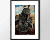 Boba Fett - Star wars  - PRINTED Boys and girls Geek man woman cave nerds bedroom office