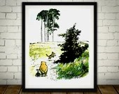 Winnie The Pooh Traditional Artwork 1  - PRINTED Art Classic kids bedroom office nursery old style lounge kitchen home decor