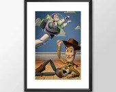 Toy Story  - PRINTED Classic kids bedroom office nursery old style lounge kitchen home decor