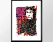 Bob Dylan Blowin' In The Wind Music Tribute  - PRINTED A Perfect Gift For Him or Her - Man Cave