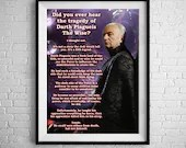 The Tragedy Of Darth Plagueis The wise - Star wars  - PRINTED Boys and girls Geek man woman cave nerds bedroom office