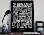 If You Could Read My Mind - Song Lyrics Typography Gordon Lightfoot Tribute - PRINTED music Art bedroom office lounge home decor