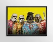 Star Wars Art - Alternative Universe 6 - Sgt Pepper Boys Geek kids man cave nerds bedroom office nursery