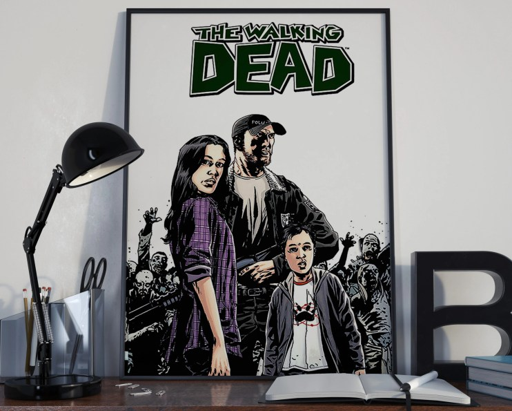 Walking Dead Comic Book Art 11 d Classic Comic Book Cover Art Cover for the Big Boys Geek man cave nerds bedroom office