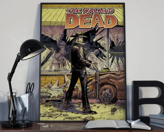 Walking Dead Classic Comic Book Cover Art Cover for the Big Boys Geek man cave nerds bedroom office kids superhero