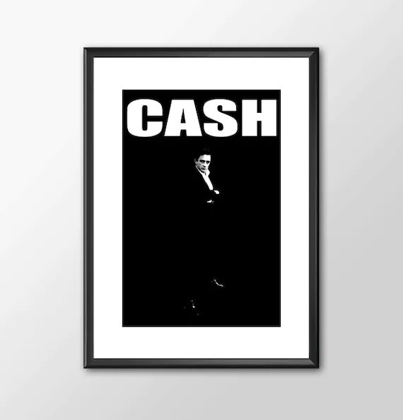Johnny Cash Tribute The Man In Black - music legend for the Big Boys Geek man cave nerds bedroom office music