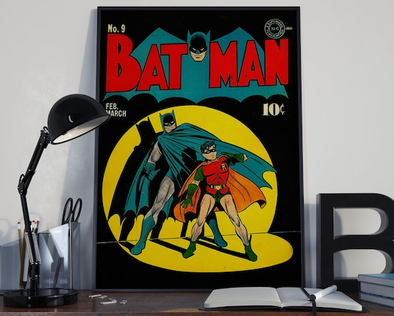 Classic Batman - Classic Comic Book Cover for the Big Boys Geek kids man cave nerds bedroom office nursery superhero