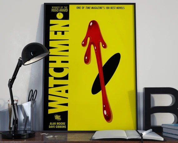 THe Watchmen - comic book style for the Big Boys Geek man cave nerds bedroom office superhero dc comics
