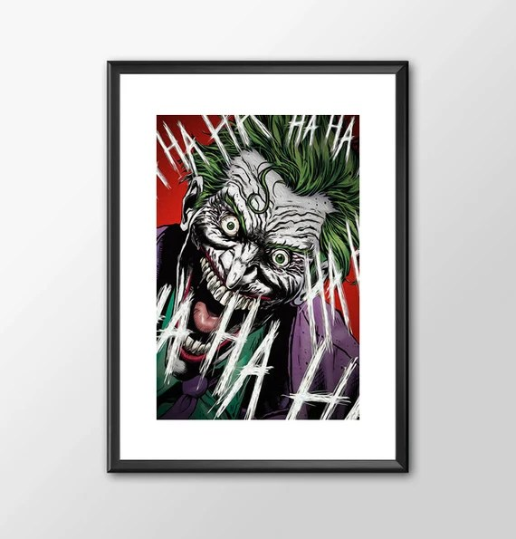 The Joker  Batman villain Classic Superhero Tribute for the Big Boys Geek kids man cave nerds bedroom office nursery superhero dc comics