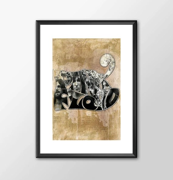 Pink Floyd Band With Logo music tribute Art bedroom office old style lounge kitchen home decor