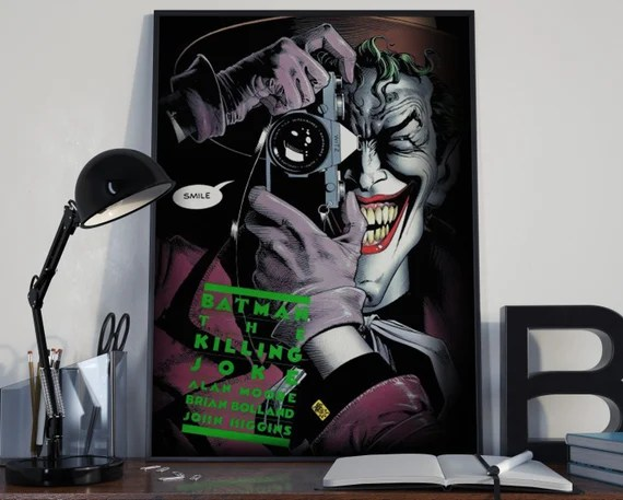 The Killing Joke - Classic Comic Book Cover Art Cover for the Big Boys Geek man cave nerds bedroom office kids superhero dc comics