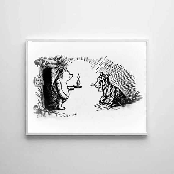 Winnie The Pooh  3 Traditional Alice In Wonderland Art Classic kids bedroom office nursery old style lounge kitchen home decor