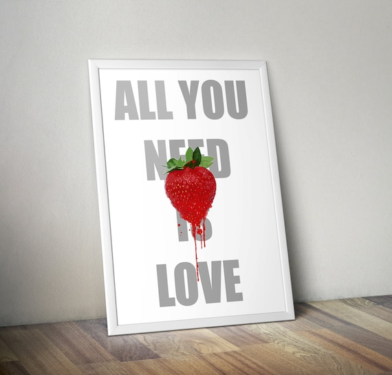 All You Need Is Love -  Classic phrase kids bedroom office nursery old style lounge kitchen home decor