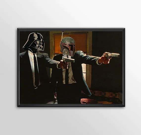 Star Wars Art - Alternative Universe 7 - Pulp Wars for the Big Boys Geek kids man cave nerds bedroom office