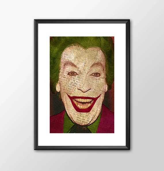 Romero's The Joker  1 - Superhero Tribute Classic Batman Tv Series for the Big Boys Geek man cave nerds bedroom office superhero dc comic