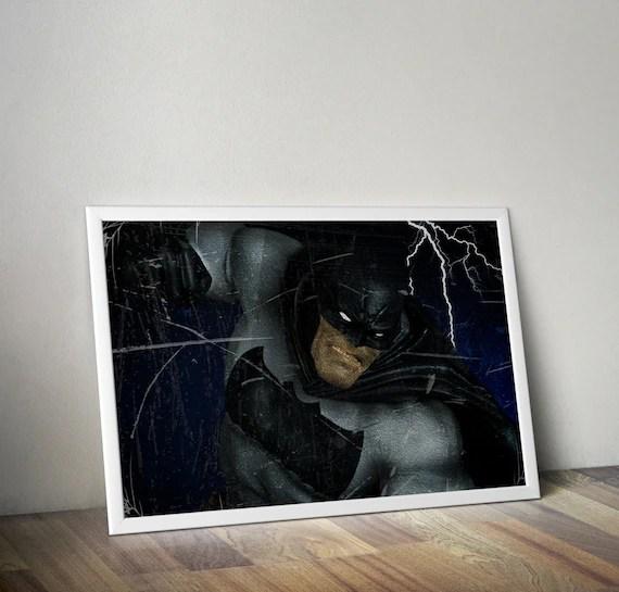 The Dark Knight - Frank Miller Batman Classic Comic style for the Big Boys Geek kids man cave nerds bedroom office superhero