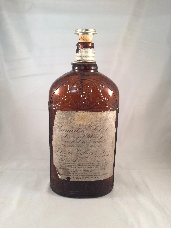 Vintage Hiram Walker Whiskey Bottle