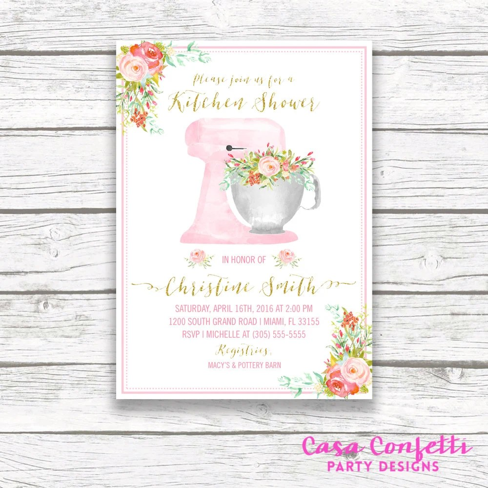 kitchen bridal shower travertine tile for backsplash in invitation cooking gallery photo