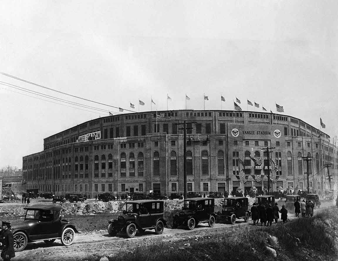 new york yankee stadium vintage photograph print poster ny wall art baseball decor sports gift fan black and white old picture