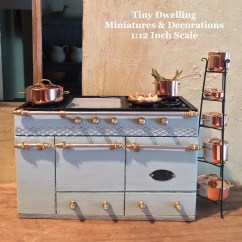 Kitchen Miniature Commercial Sinks Etsy Lacanche French Stove Dollhouse Cooker Cooktop