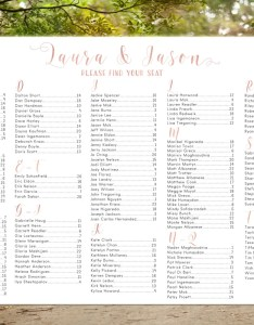 Image also alphabetical seating chart poster rose gold wedding etsy rh