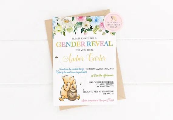 winnie the pooh gender reveal baby