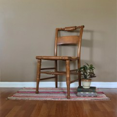 Vintage Wooden Chairs Ergonomic Chair Mesh Wood Etsy Accent Painted Distressed