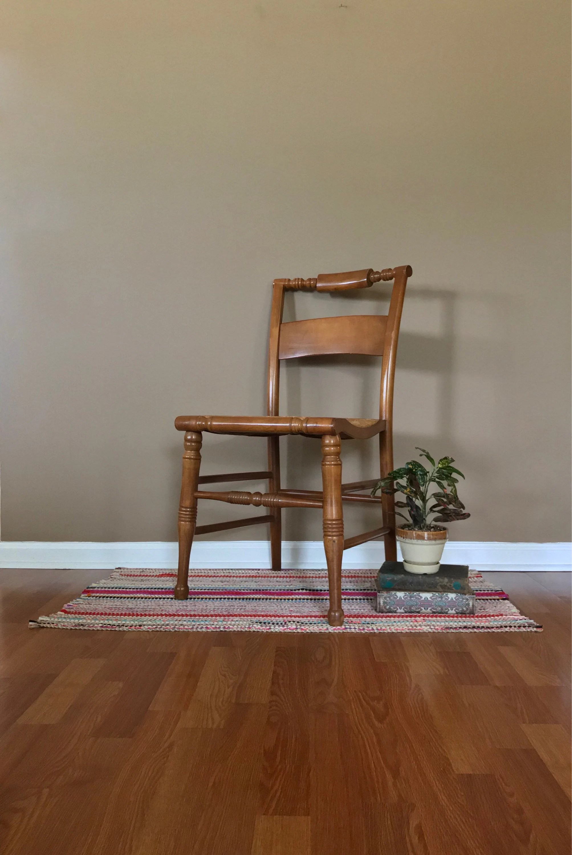vintage wooden chairs healthy offices wood chair etsy accent painted distressed