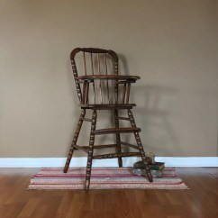 Vintage Wooden High Chair Folding Lounge Beach Jenny Lind Wood Highchair Etsy Image 0
