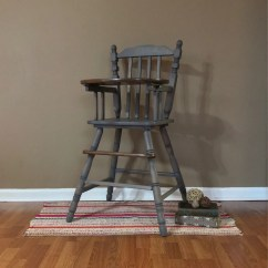 Vintage Wooden High Chair Youtoo Ergonomic Jenny Lind Wood Highchair Etsy Image 0