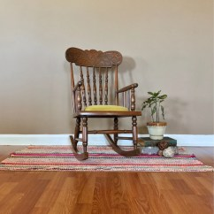 Antique Wooden Rocking Chairs Dining Room Captain Child S Chair Vintage Childs Rocker Etsy 50