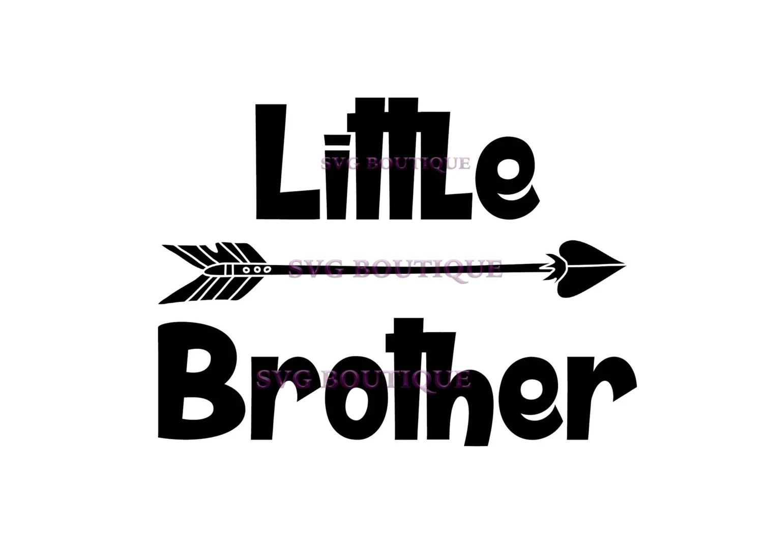 Little Brother Svg Big Brother Svg Arrow Vector Cutting