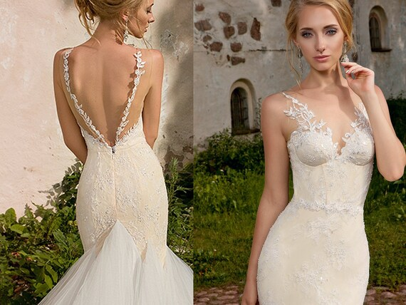 Lace Bridal Dress ROXANNE Sexy Wedding Dress Bridal Gowns