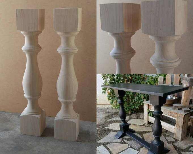 Balustrade Table Legs For Sale