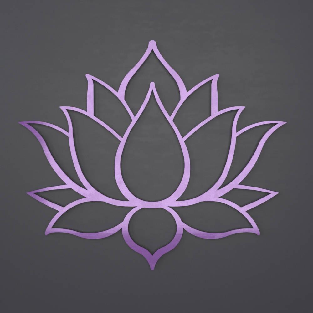 Purple Lotus Flower Metal Wall Art Lotus Metal Art Home Decor