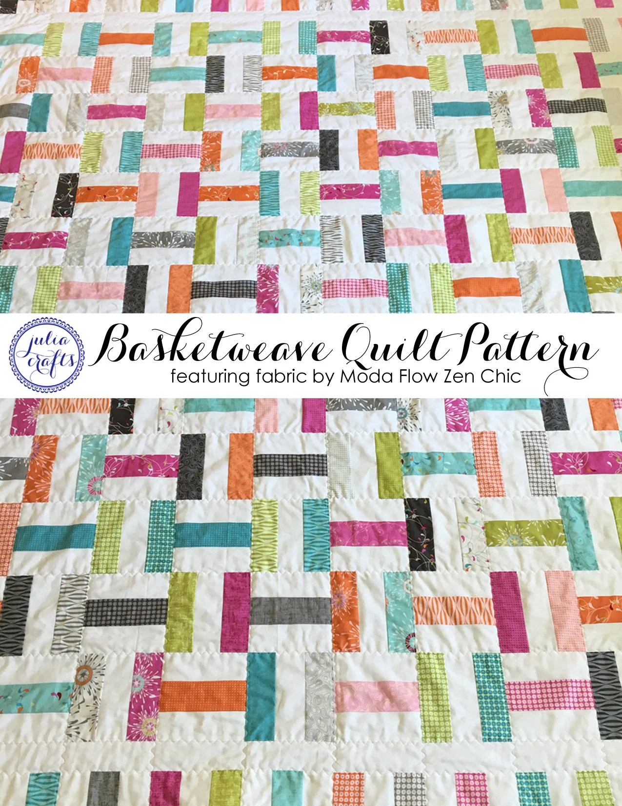 Basket Weave Quilt Pattern : basket, weave, quilt, pattern, Basketweave, Quilt, Pattern, Tutorial, Featuring, Fabric
