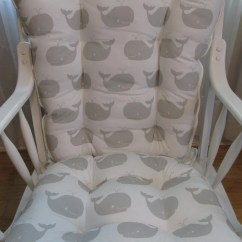 Rocking Chairs For Nursery Nz Turquoise Desk Chair Target Or Glider Cushions Set In French Grey Whales On Etsy Image 0