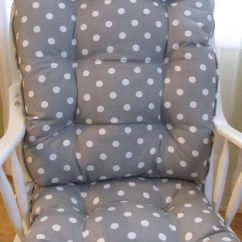 Polka Dot Rocking Chair Cushions Rentals In Ct Glider Or Set Storm Grey With White Etsy Image 0