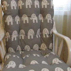 Rocking Chair Pad Sets Swing Metal Stand Glider Or Cushions Set In Storm Grey With White Etsy Image 0