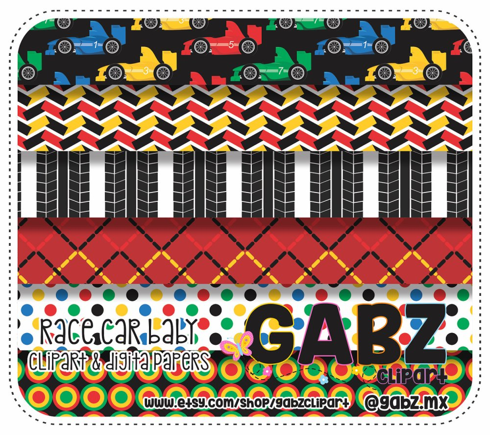 medium resolution of race car baby digital papers baby shower clipart baby boy gabz