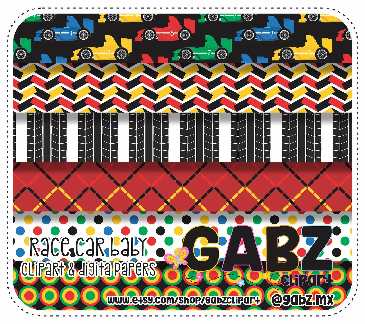 hight resolution of race car baby digital papers baby shower clipart baby boy gabz