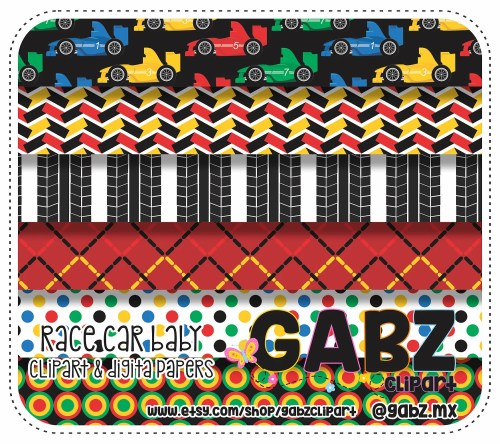 small resolution of race car baby digital papers baby shower clipart baby boy gabz