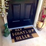 Hey Whats Up Hello Regular Heywhatsuphello Outdoor Doormat Etsy