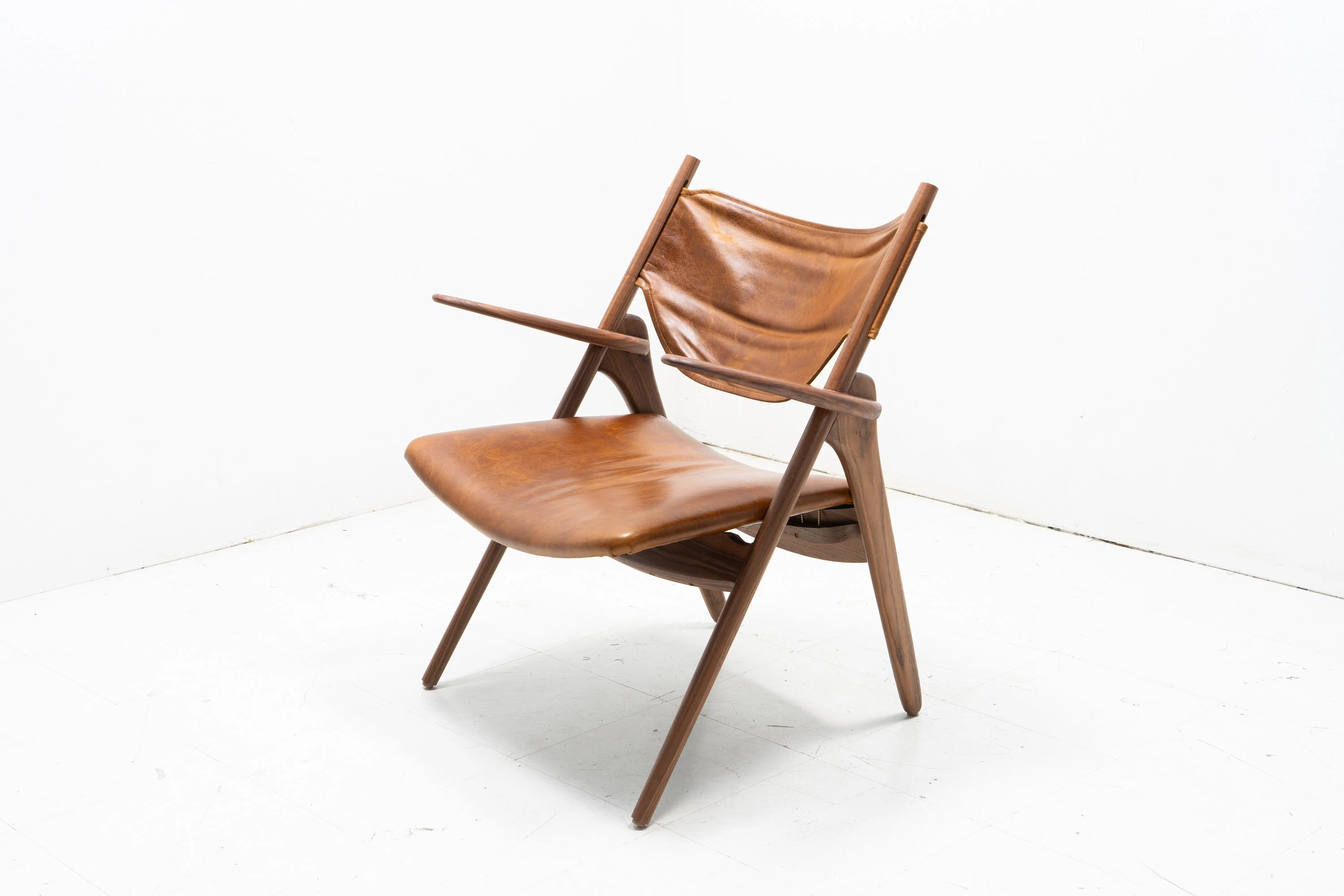 sling back chair kd smart owner s manual etsy exposed walnut in the fashion of hans wegner
